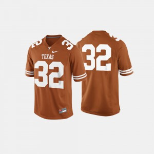For Men's #32 College Football Burnt Orange Texas Jersey 427386-164