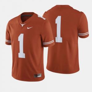 Men's #1 College Football Texas Jersey Orange 452584-691