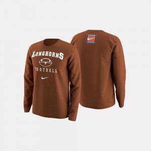 College Football Retro Pack Orange Texas Sweater For Men 600268-358