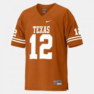 #12 Orange Colt McCoy Texas Jersey Kids College Football 702845-782