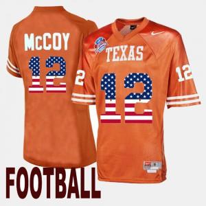 Throwback Colt McCoy Texas Jersey Orange #12 For Men's 134629-285