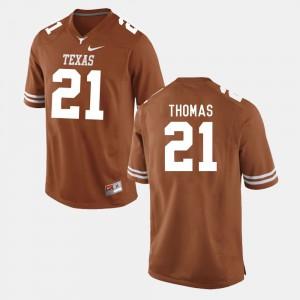 Men's #21 Burnt Orange Duke Thomas Texas Jersey College Football 694143-296