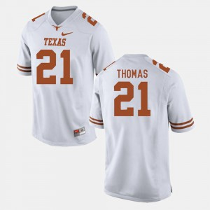 College Football Men's #21 Duke Thomas Texas Jersey White 412560-867