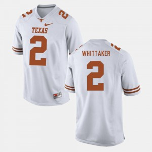 White College Football #2 For Men's Fozzy Whittaker Texas Jersey 795090-140