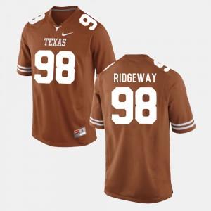 College Football Hassan Ridgeway Texas Jersey #98 Men Burnt Orange 161790-511
