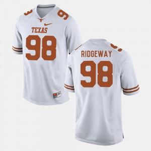 White Hassan Ridgeway Texas Jersey College Football Men's #98 196975-621
