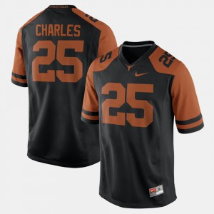 Men's Black Jamaal Charles Texas Jersey Alumni Football Game #25 626210-977