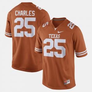 For Men's #25 Alumni Football Game Jamaal Charles Texas Jersey Orange 243689-345
