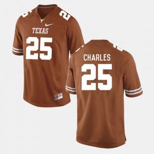 #25 College Football Burnt Orange Jamaal Charles Texas Jersey Men 542983-396