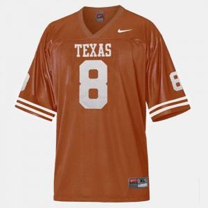 For Men's Orange College Football Jordan Shipley Texas Jersey #8 887808-432