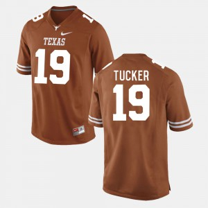 #19 Burnt Orange College Football Mens Justin Tucker Texas Jersey 290838-833