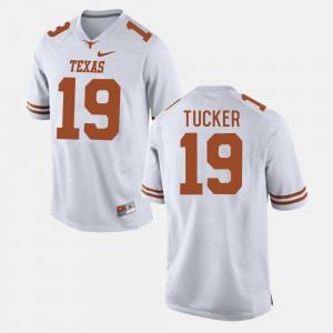 Justin Tucker Texas Jersey White #19 For Men's College Football 372296-300