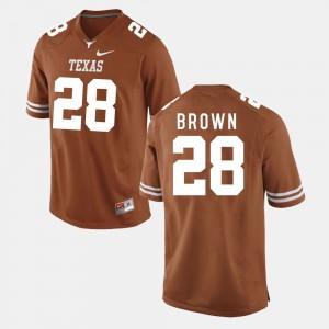 Men College Football Burnt Orange Malcolm Brown Texas Jersey #28 518209-523