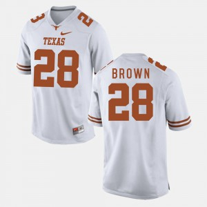 #28 College Football Malcolm Brown Texas Jersey Mens White 687807-291