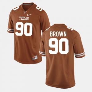 Burnt Orange Malcom Brown Texas Jersey College Football Men's #90 689976-829