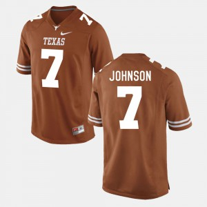 Marcus Johnson Texas Jersey Men's Burnt Orange #7 College Football 985455-413