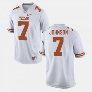 Marcus Johnson Texas Jersey White #7 For Men's College Football 885748-278