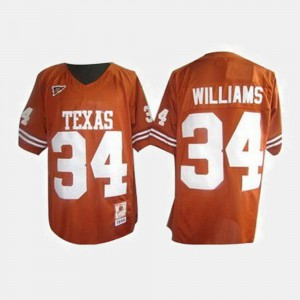 For Men's Orange Ricky Williams Texas Jersey #34 College Football 339331-685