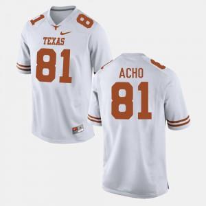 White For Men Sam Acho Texas Jersey #81 College Football 370020-112