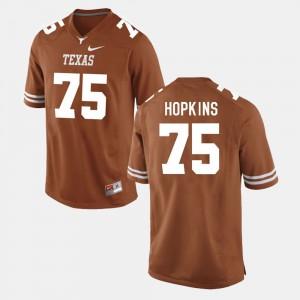 Mens Burnt Orange Trey Hopkins Texas Jersey College Football #75 936326-712