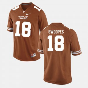 Burnt Orange #18 College Football For Men Tyrone Swoopes Texas Jersey 435108-564