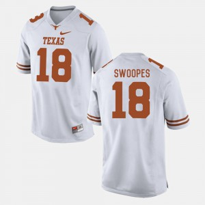 College Football For Men #18 White Tyrone Swoopes Texas Jersey 744844-945