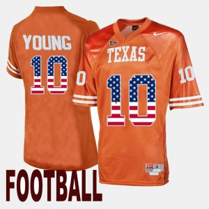 #10 Throwback Orange Vince Young Texas Jersey Men 407352-898