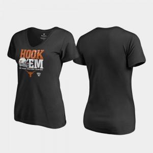 Texas T-Shirt Endaround V-Neck Women 2019 Sugar Bowl Champions Black 759835-430