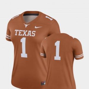 Texas Jersey Finished Replica College Football #1 Texas Orange Ladies 416069-718