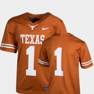 College Football Texas Orange For Kids Texas Jersey Team Replica #1 247281-824