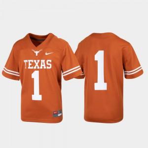 Football Texas Orange Texas Jersey #1 Untouchable Youth 408908-413
