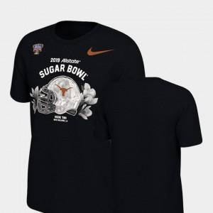 Illustrated Helmet Black Youth(Kids) Texas T-Shirt 2019 Sugar Bowl Bound 491786-186