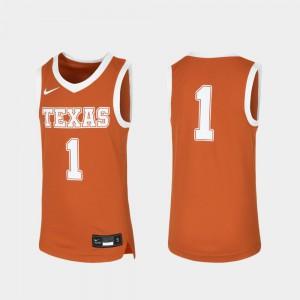 Texas Jersey Youth(Kids) Replica Orange Basketball #1 677632-200